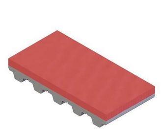 Recubrimiento Caucho Linatex rojo para correas dentadas
