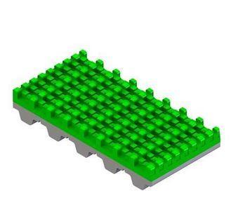 Recubrimiento PVC Súper agarre verde para correas dentadas