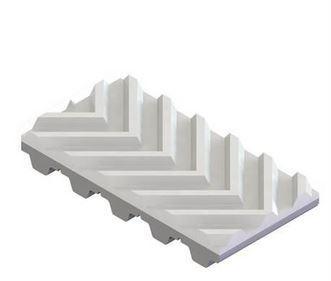 PVC visgraat profiel wit bekleding voor tandriemen
