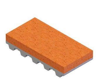 Sponsrubber oranje RG250 bekleding voor tandriemen